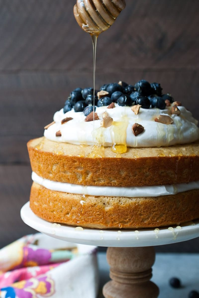 Lemon Olive Oil Cake with Blueberries and Coconut Whipped Cream ...