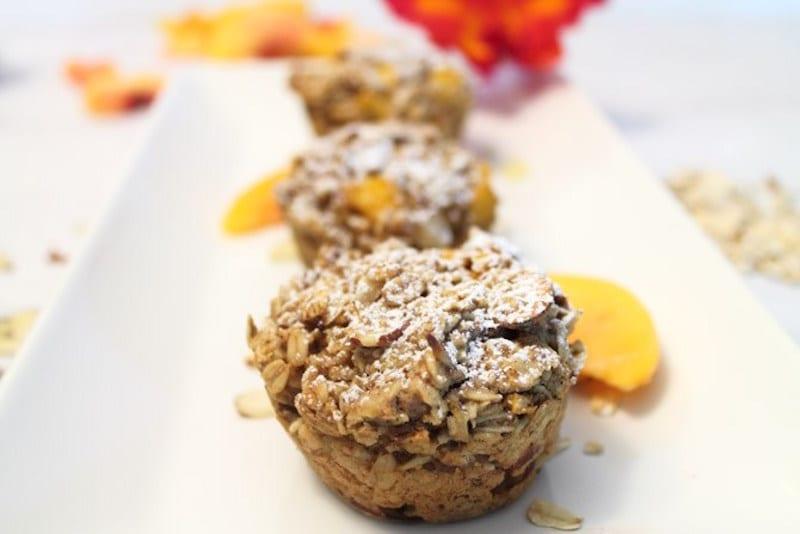 Peach Almond and Oatmeal Bites