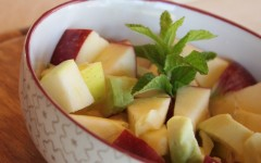 Red and Green Apple Salad with avocado