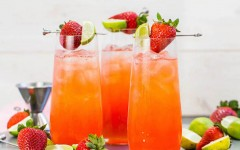 Strawberry Lime Cocktail