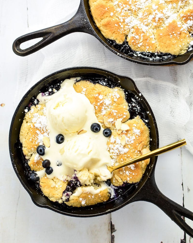 Blueberry Bourbon Cobbler