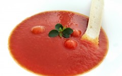 Deceptively simple, Hilton  Diagonal Mar Barcelona's Baby Tomato Soup explodes with flavor.