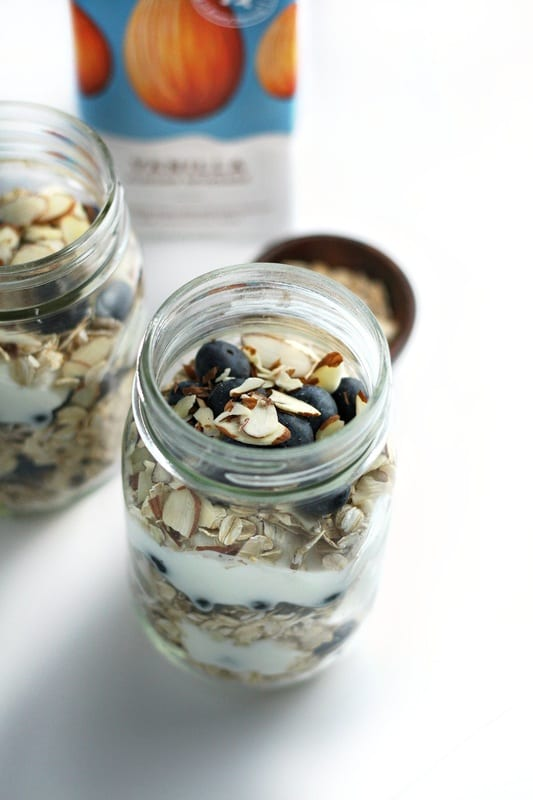 Almond and Coconut Blueberry Overnight Oats