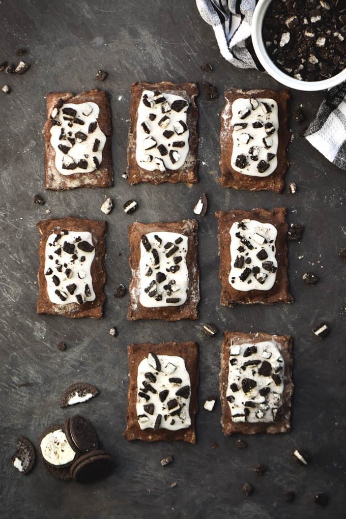 Homemade Cookies and Cream Toaster Pastries