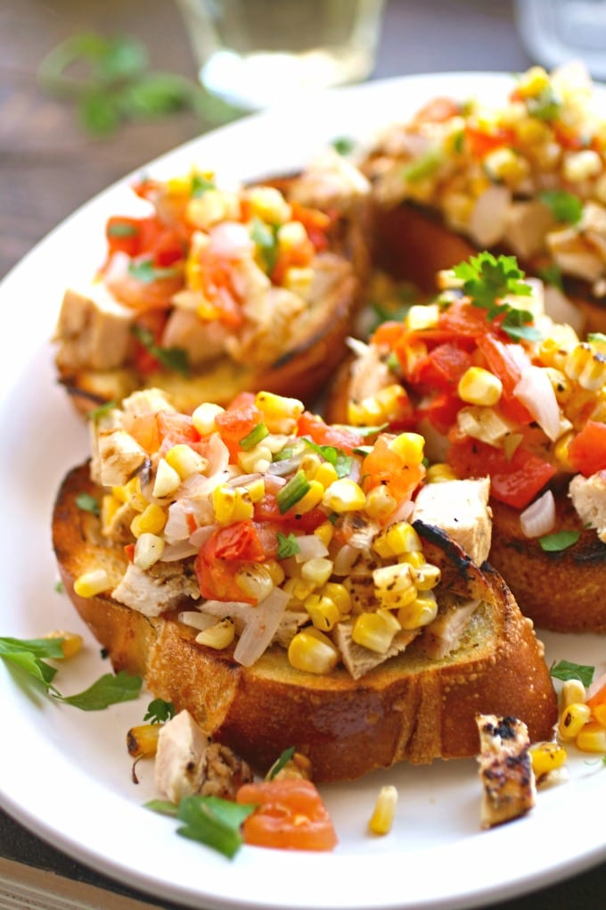 love Grilled Chicken and Veggie Bruschetta for those times when you ...
