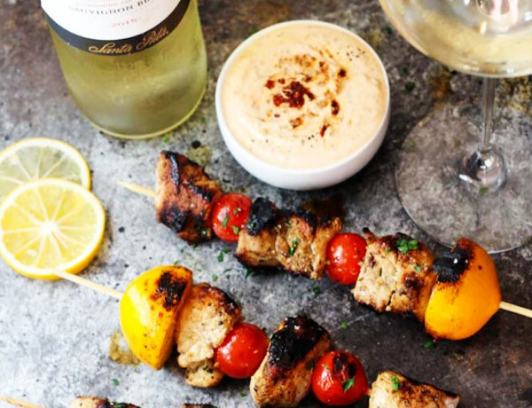 Lemon-Chicken-Skewers-with-Harissa-Yogurt-Sauce-4