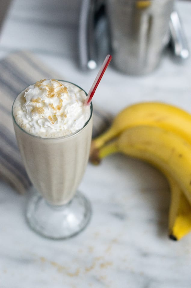 Bananas Foster Milkshake Recipe — Dishmaps