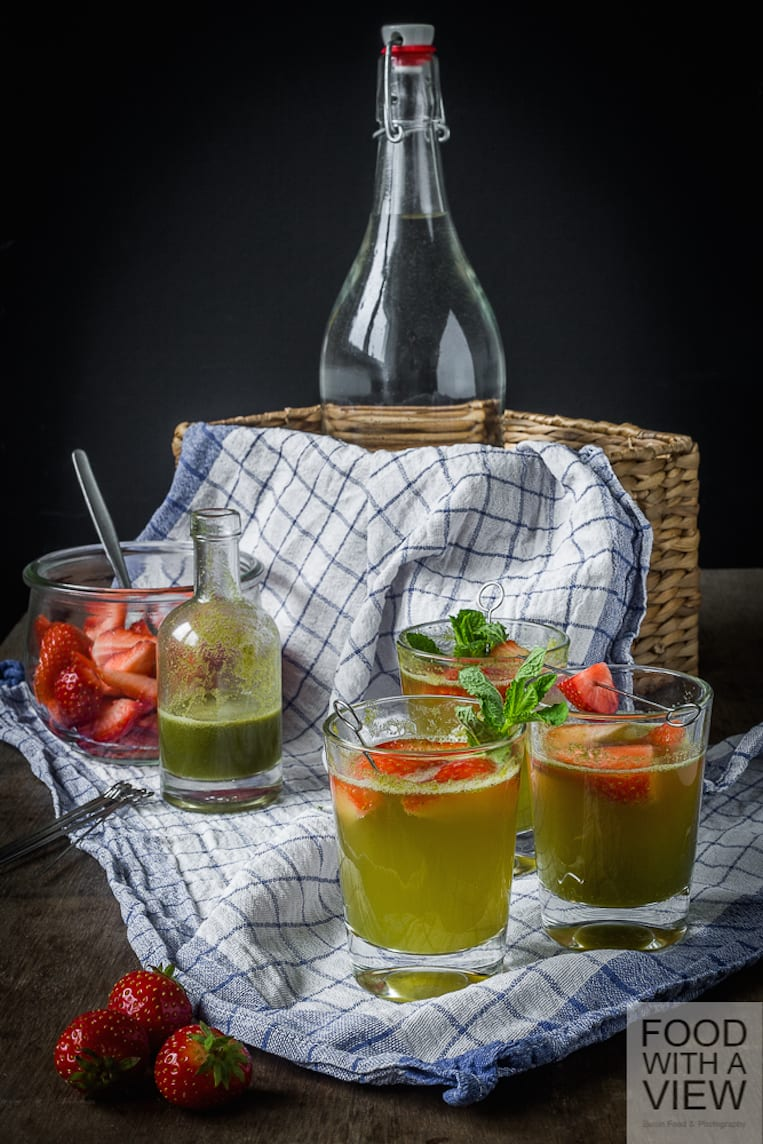 Strawberry-Mint Picnic Punch