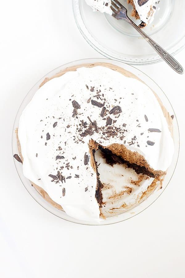Brownie Bottom Chocolate Pie