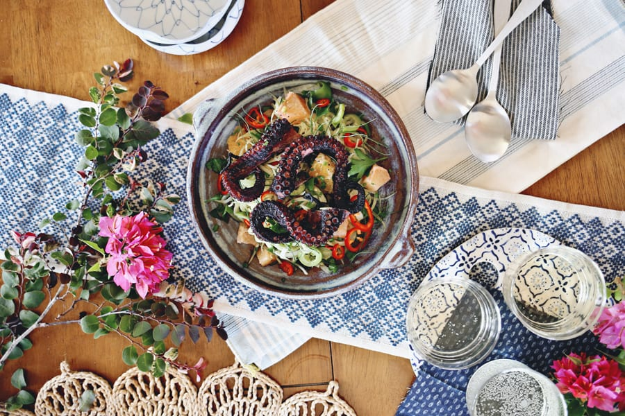 Grilled Octopus and Fennel Citrus Salad