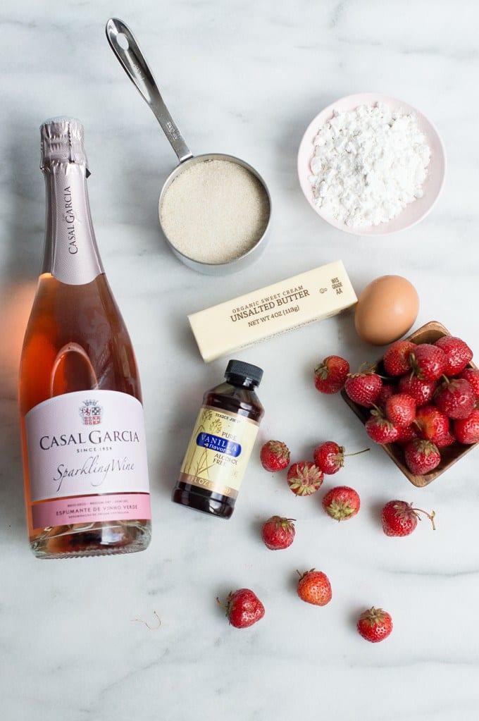 Wine Soaked Strawberry Shortcake
