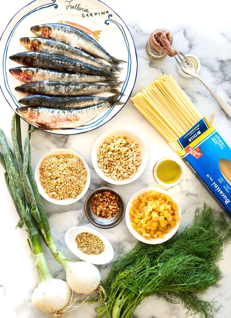 pasta con le sarde pasta with sardines is a dish