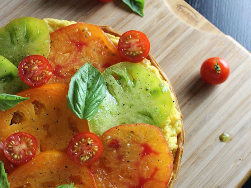 Tomato and Goat Cheese Polenta Tart – Honest Cooking
