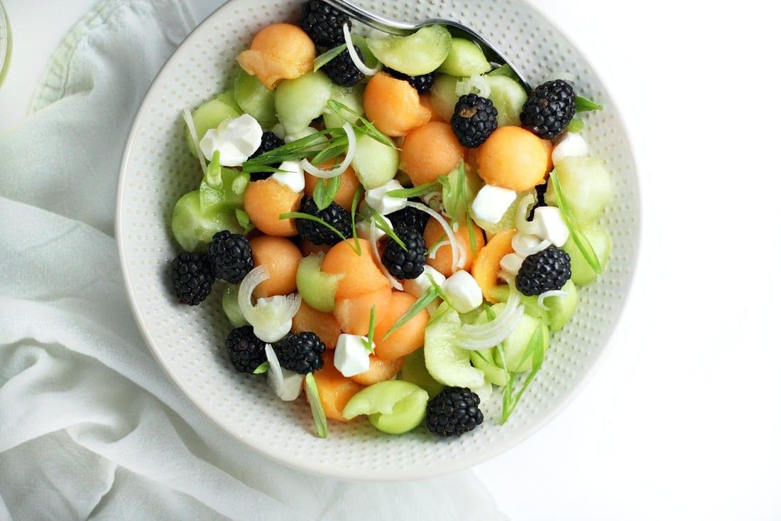 Melon and Mozzarella Salad
