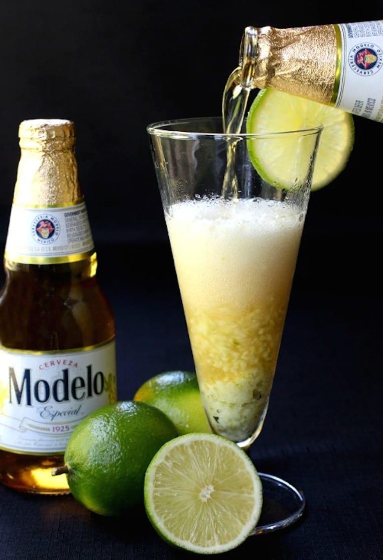 Lime Puree and Cerveza
