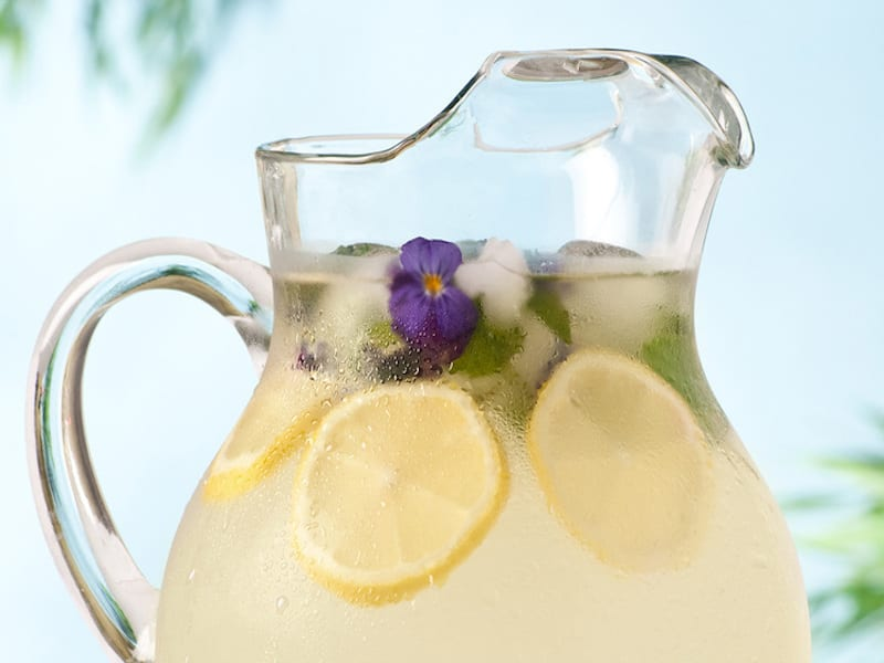 Rosewater Lemonade with Honey – Honest Cooking