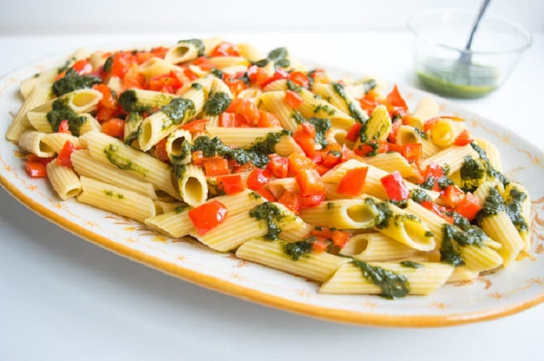 Red Pepper Pistou Pasta is a unique mix. Pistou, a French twist on ...