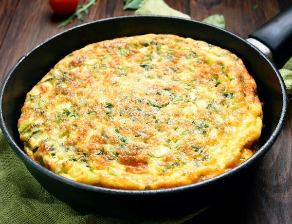 Basil and Ricotta Frittata