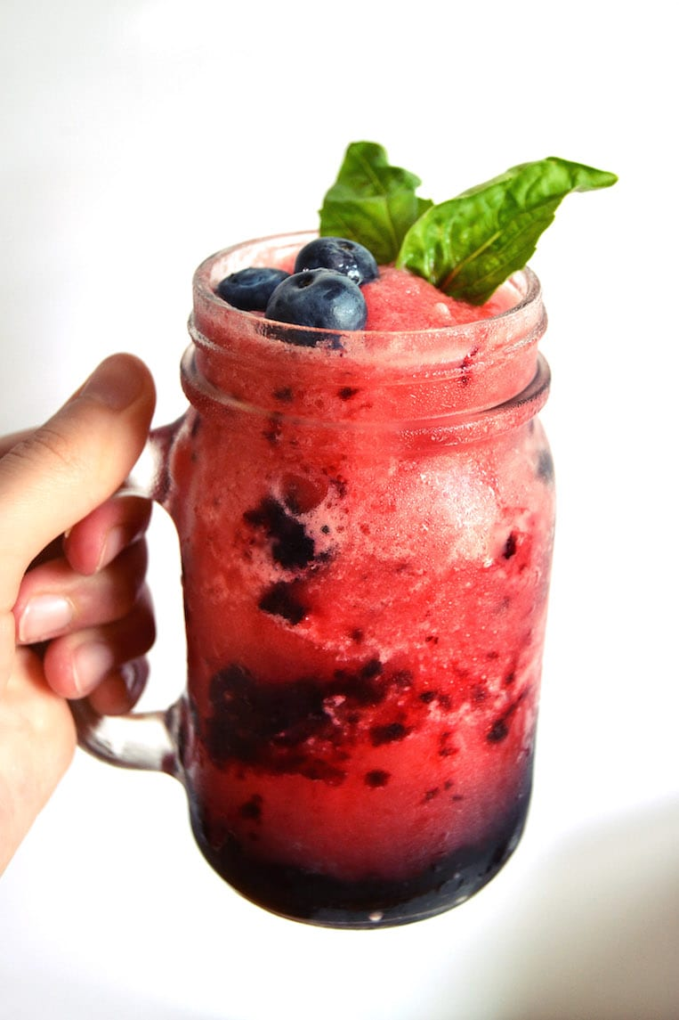The Watermelon-Berry Gin Slushie