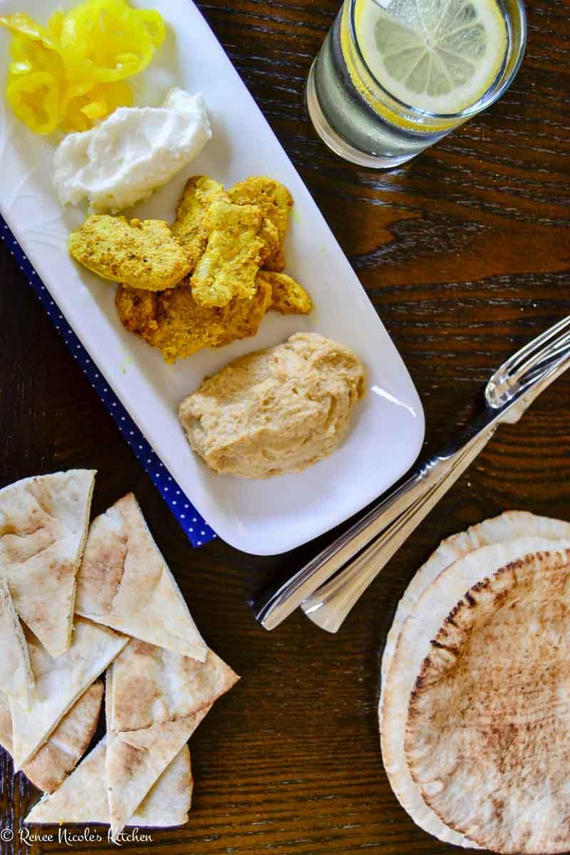 Homemade Chicken Shawarma Platter