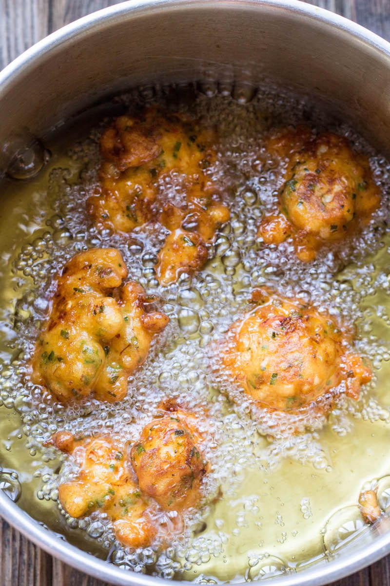 Lobster and Corn Fritters