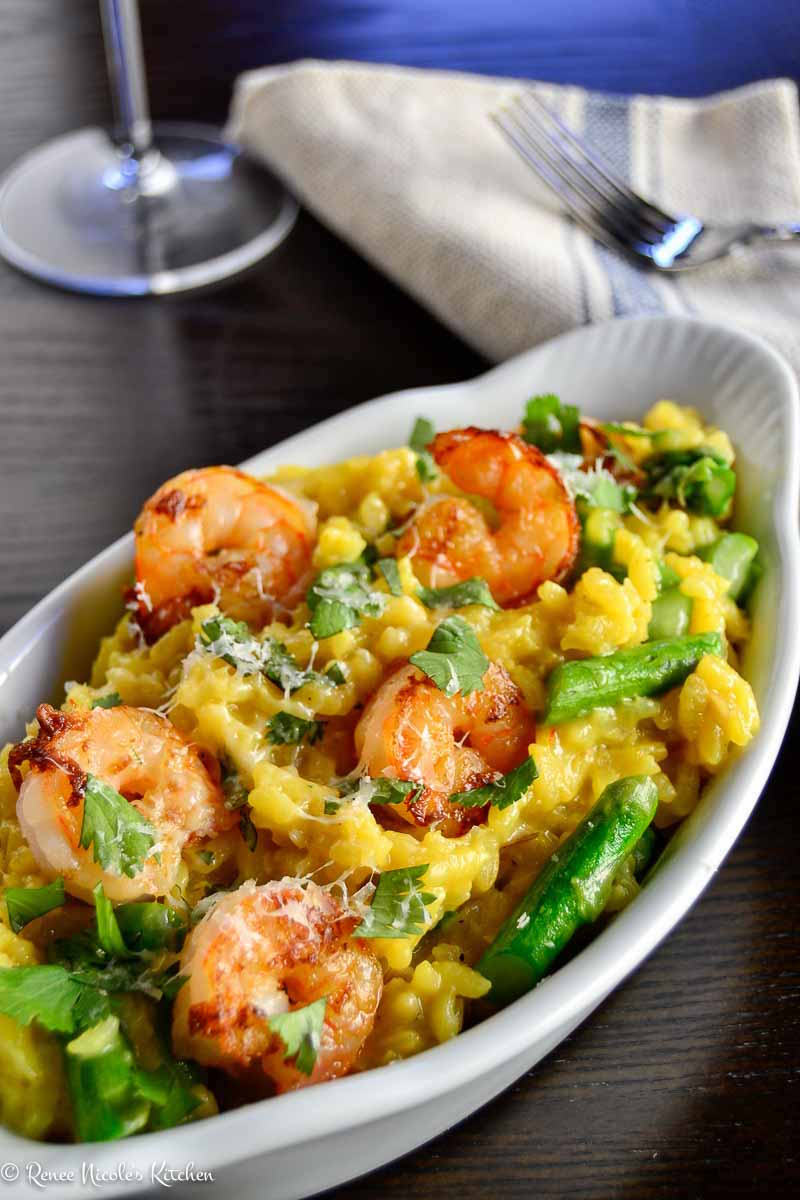 Shrimp and Asparagus Risotto – Honest Cooking