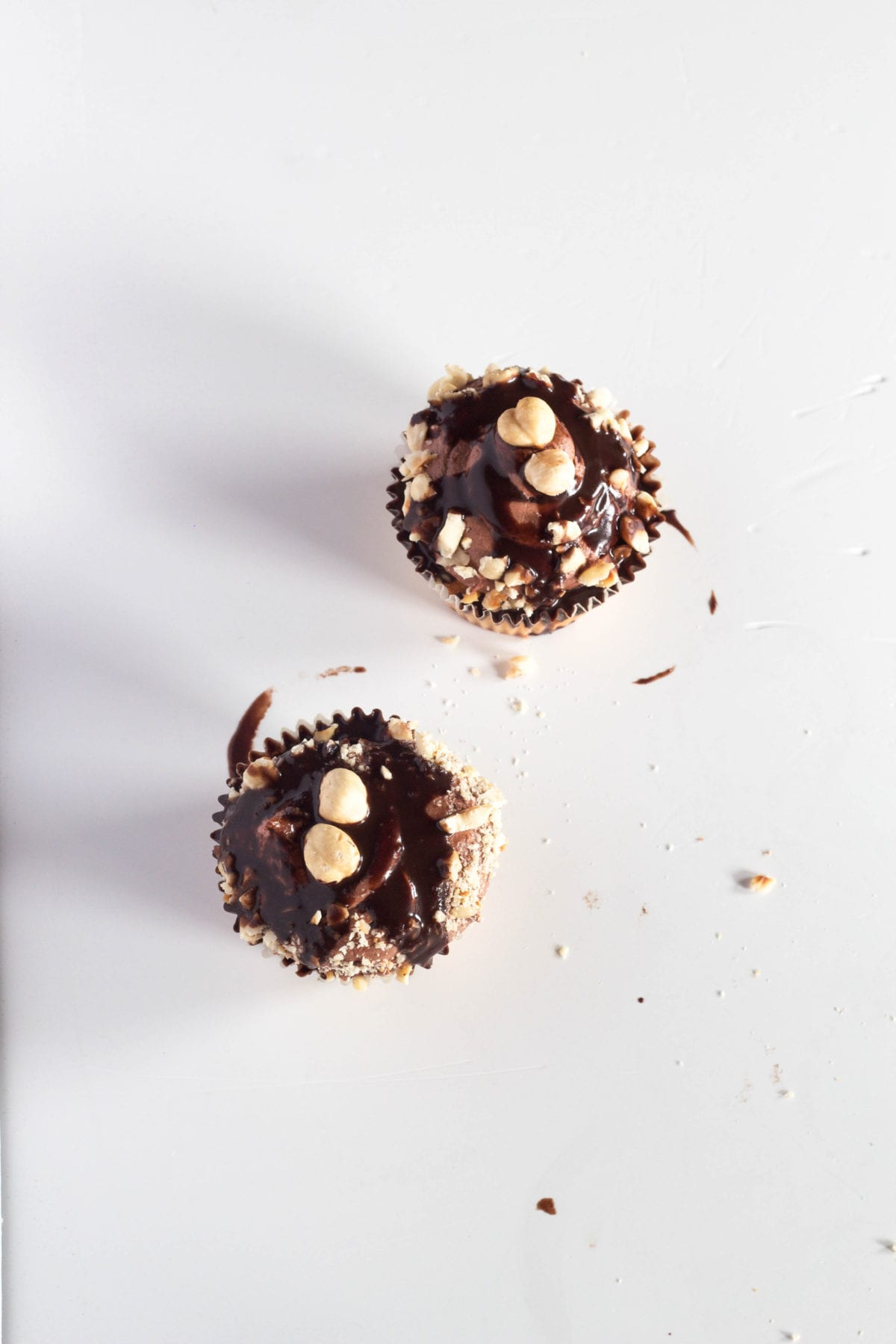 Hazelnut Ganache Filled Cupcakes