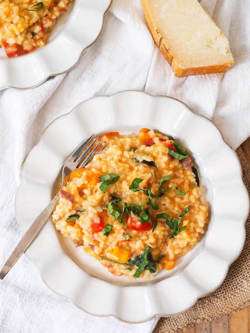 risotto-prosciutto-tomatoes