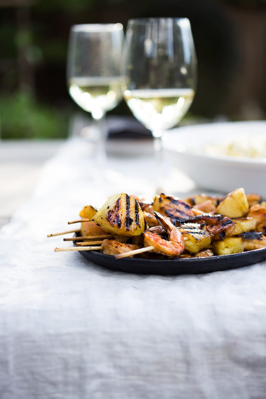 Pineapple Chipotle Grilled Shrimp - Honest Cooking