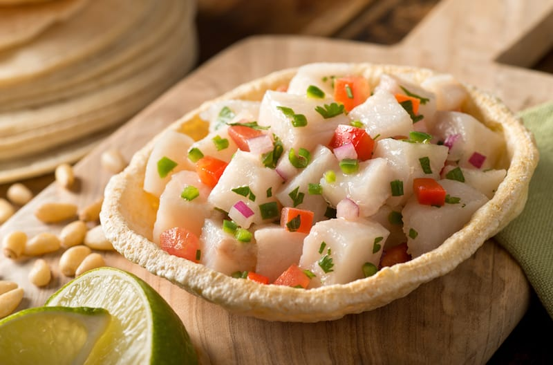 Cool Fluke Ceviche and Crisp White Wine