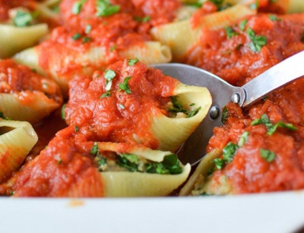 Dairy-Free-Turkey-Sausage-Stuffed-Shells-4