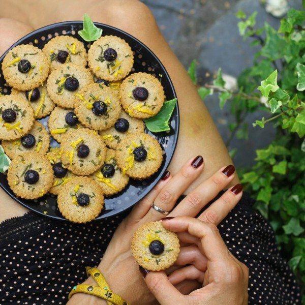 AIP Lemon Rosemary Cookies