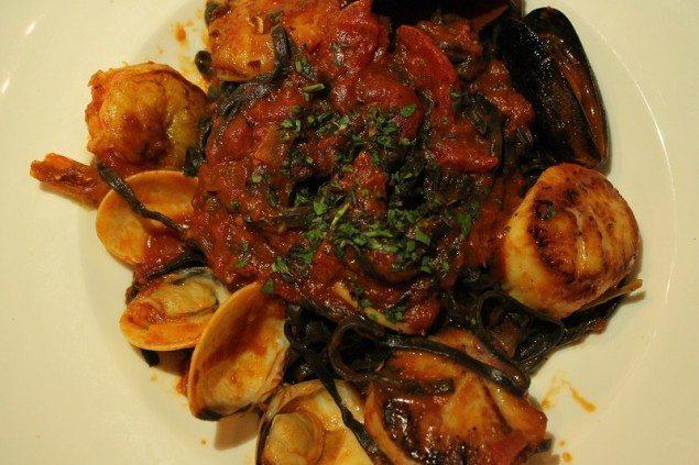 Time Nyack BV Grill Squid Ink Spaghetti DIsh