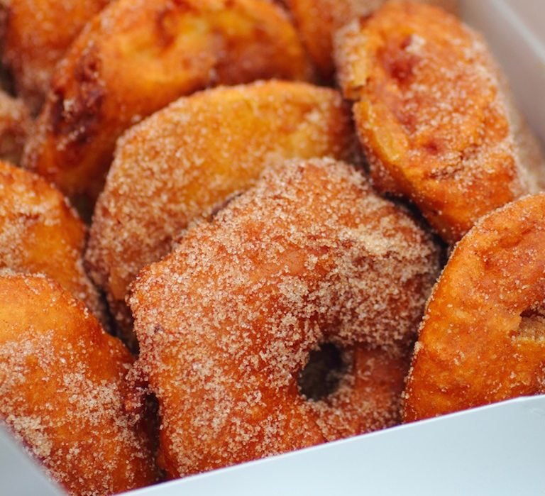 This Italian take on an apple fritter, made with whole apple rings, is ...