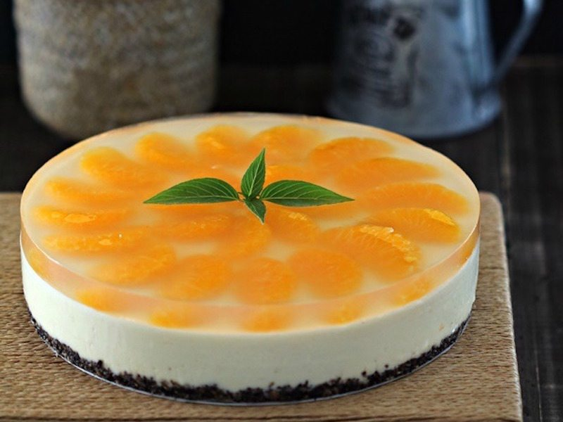 Simple No-Bake Orange Cheesecake – Honest Cooking