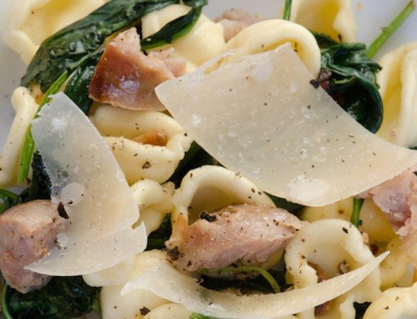 oricchiette-kale-sausage-plate-bike-tours-italy-italiaoutdoors-food-and-wine