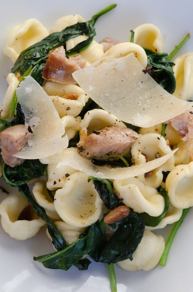 Orecchiette with Sausage, Kale, and Pine Nuts