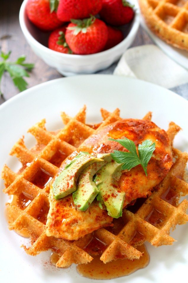 Chicken and Mashed Potato Waffles