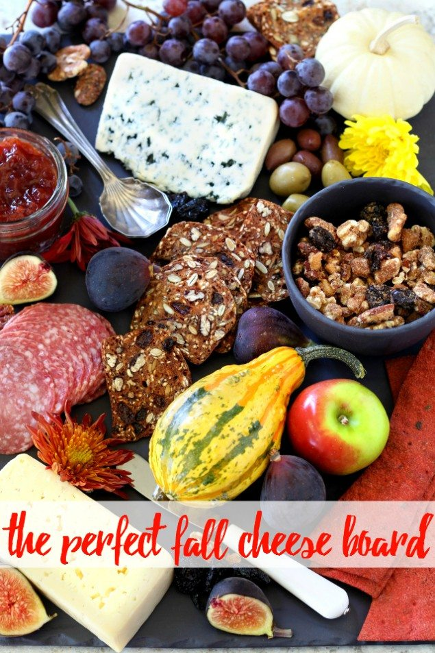 Ultimate Autumn Cheese Board with Chia Jam