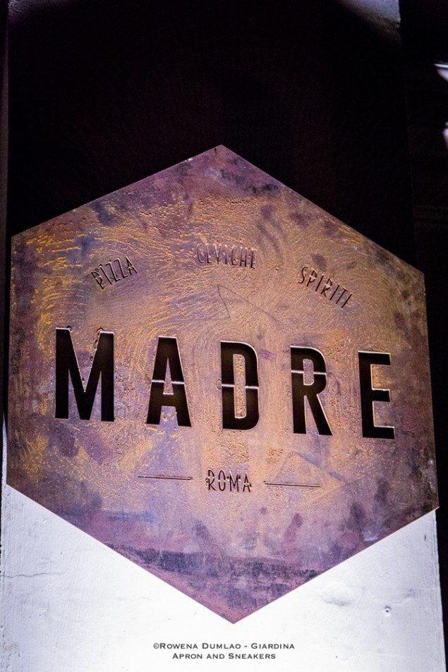 Eating at Madre Roma in Italy
