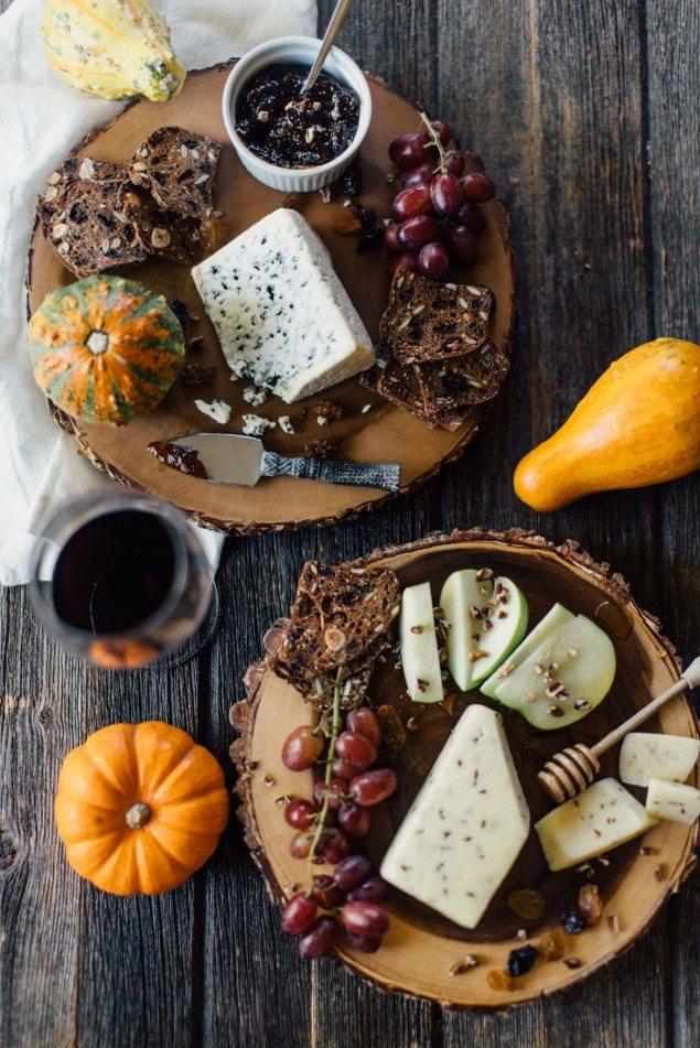 Easy Fall Cheese Board