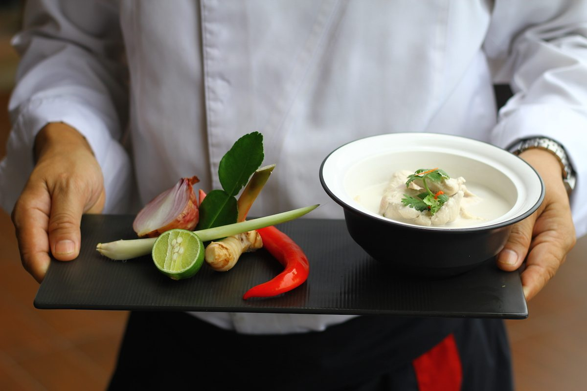 The Chefs at Intercontinental Ko Samui, Thailand teach us to make an Allergy Free and AIP version of Tom Kha Gai, a delicious chicken soup in coconut milk.