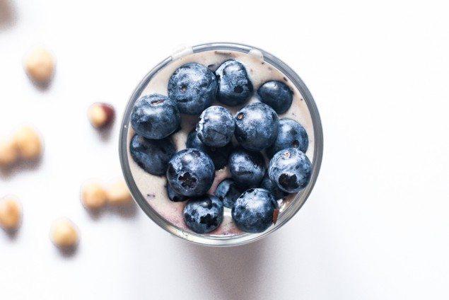 Blueberry Hazelnut Avocado Smoothie