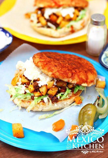 Chorizo-Potato Pambazo Sandwich