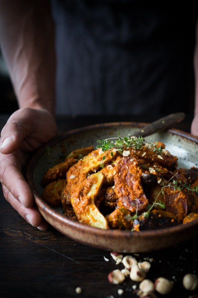 Fingerling Romesco Potatoes