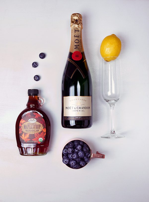 Sparkling Maple Blueberry Cocktail