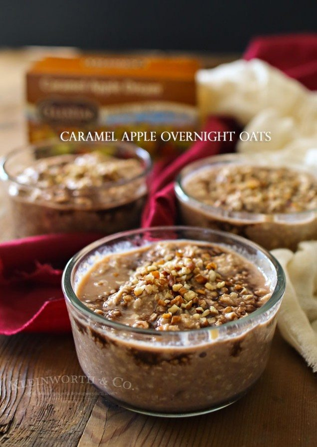 Caramel Apple Overnight Oatmeal