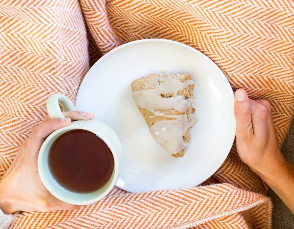Caramel Apple Tea Scones
