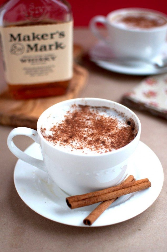Cinnamon Bourbon Latte