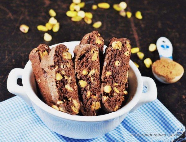 Double Chocolate and Pistachio Biscotti